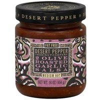 Desert Pepper Two Olive Roasted Garlic Salsa, 16 oz (Pack of 6)
