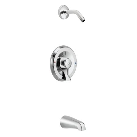Moen T8389NHCBN M-DURA Tub and Shower Bath and Shower Faucet with Posi-Temp Pressure Balanced Trim without Shower Head, Available in Various Colors