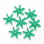 Starflake Beads - Transparent Christmas Green - 18mm - 500 pieces