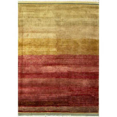 Bokara Rug Co Inc Gabbeh Hand Knotted Wool Redyellow Area Rug