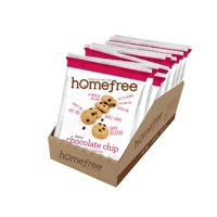 Homefree Gluten Free Chocolate Chip Mini Cookies Grab & Go Boxes Single Serve 1.1 Oz. Bags, 1 Each (10 Pack)