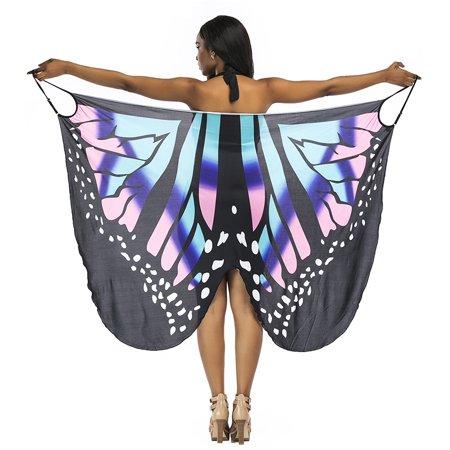 Senfloco Women Bathing Swimsuit Bikini Swimwear Strap Butterfly Wrap Pareo Floral Printed Cover Up Beach Dress