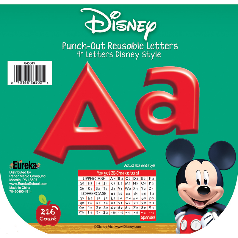 MICKEY MOUSE CLUBHOUSE RED DECO LETTERS