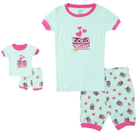 53aa645deb Leveret Shorts Kids   Toddler Pajamas Matching Doll   Girls Pajamas ...