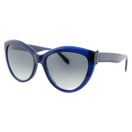 6c0015ee5f6 Alexander McQueen - Alexander McQueen AM 0003S 003 Piercing Cat-Eye Blue  Plastic Cat-Eye Sunglasses Grey Gradient Lens - Walmart.com