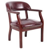 Boss Office Products Burgundy Ivy League Executive Captains Chair
