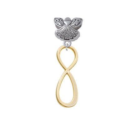 Large Elegant Gold Tone Infinity Sign   Guardian Angel Charm Bead