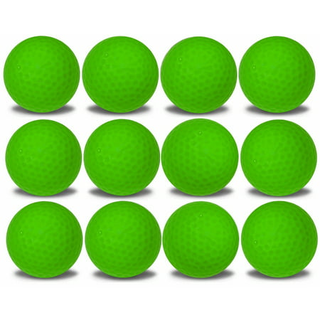 Green Floating Golf Balls 12 Pack by GBM Golf - Golf Glow In The Dark