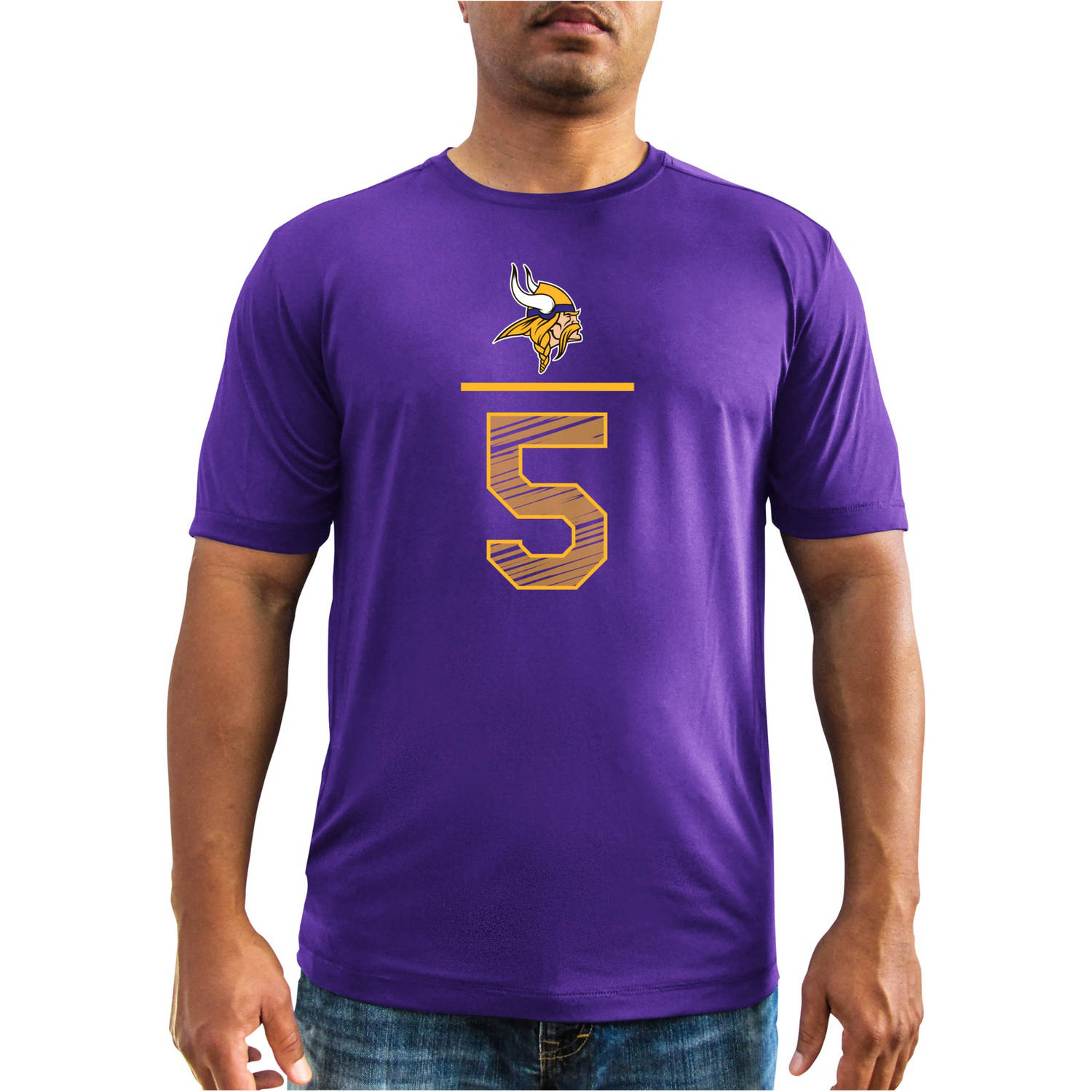 NFL Men's Minnesota Vikings T Bridgewater 5 Synthetic Player Tee