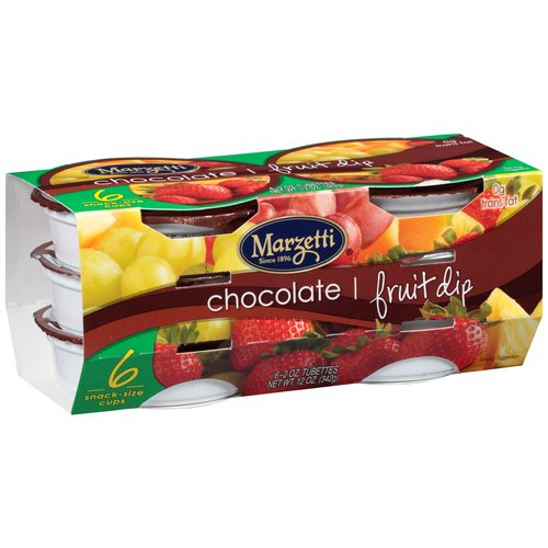 Marzetti Chocolate Fruit Dip, 2 oz, 6 count