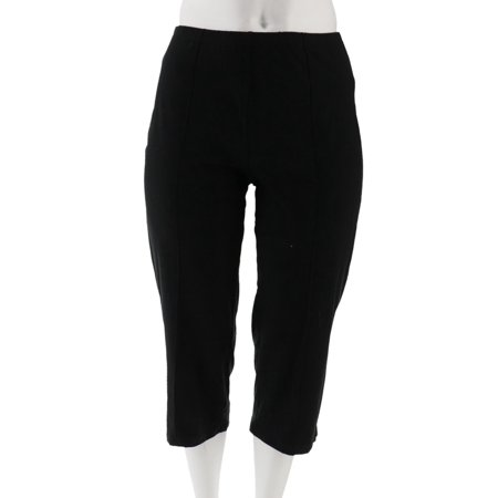 Women with Control Petite Pintuck Crop Pants A306463 Ladies Cropped Pants
