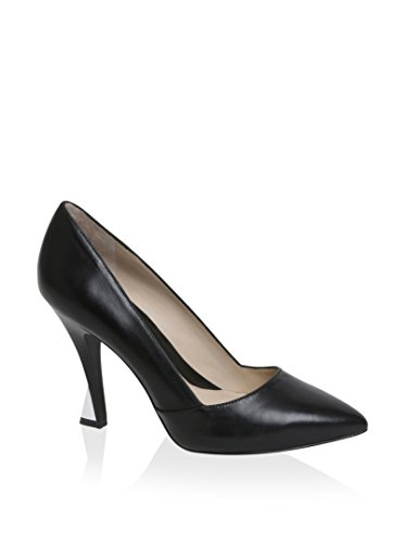 Carolina Espinosa Women's Agnes Pump, Black Leather, 10 M US by Carolina Espinosa