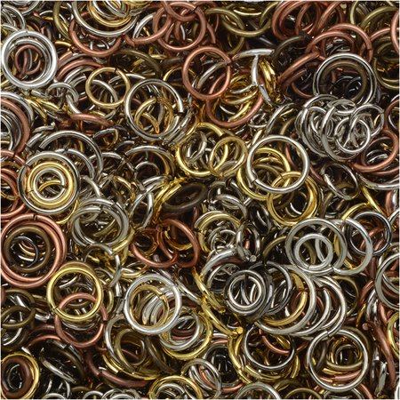 Open Jump Rings, Assorted 4-10mm Size Mix, 50-80 Pieces 7.5 Grams,