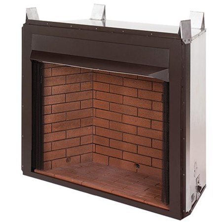 Superior VRT4032WS 32 in. Floor Level Vent Free Firebox, Clean Face - Natural White Stacked Brick