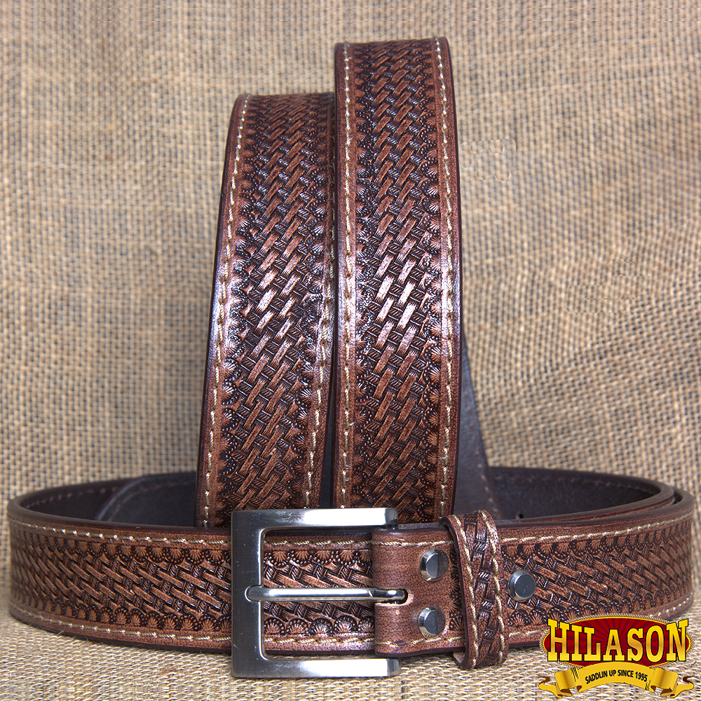 "30"" HILASON HANDMADE HEAVY DUTY CONCEALED CARRY LEATHER STICHED GUN HOLSTER BELT"