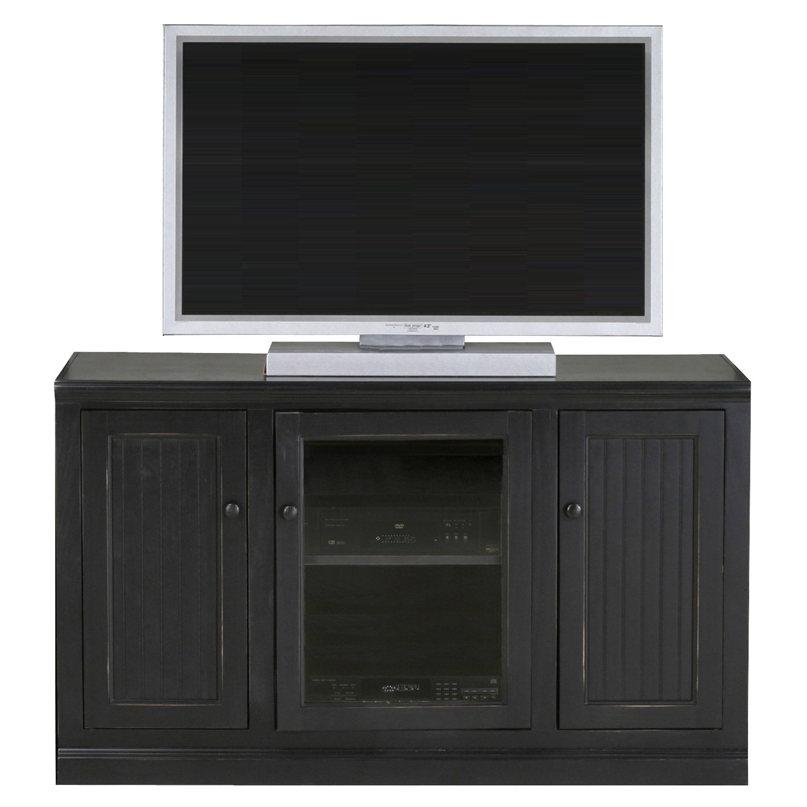 Eagle Furniture Coastal 55 in. Plain Glass Tall Entertainment Center