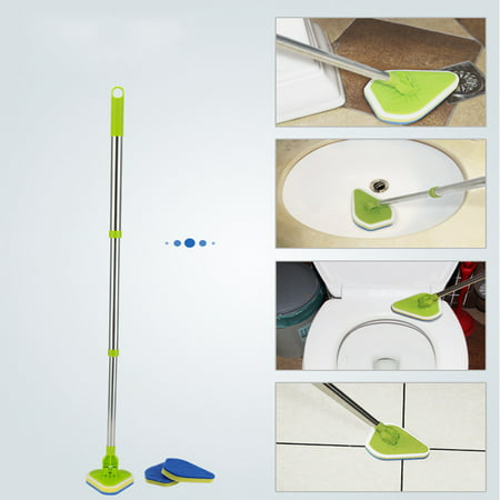 Shower Tub Tile Scrubber Brush Car Van Bathtub Cleaner with Extendable Handle and Swivel Head for Bathroom