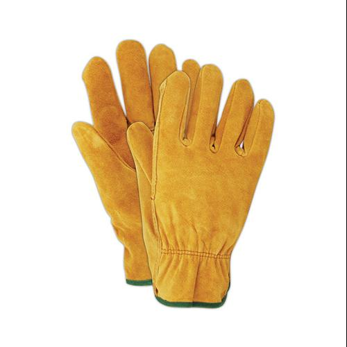 MAGID GLOVE & SAFETY MFG. Suede Leather Work Gloves, Men's Large