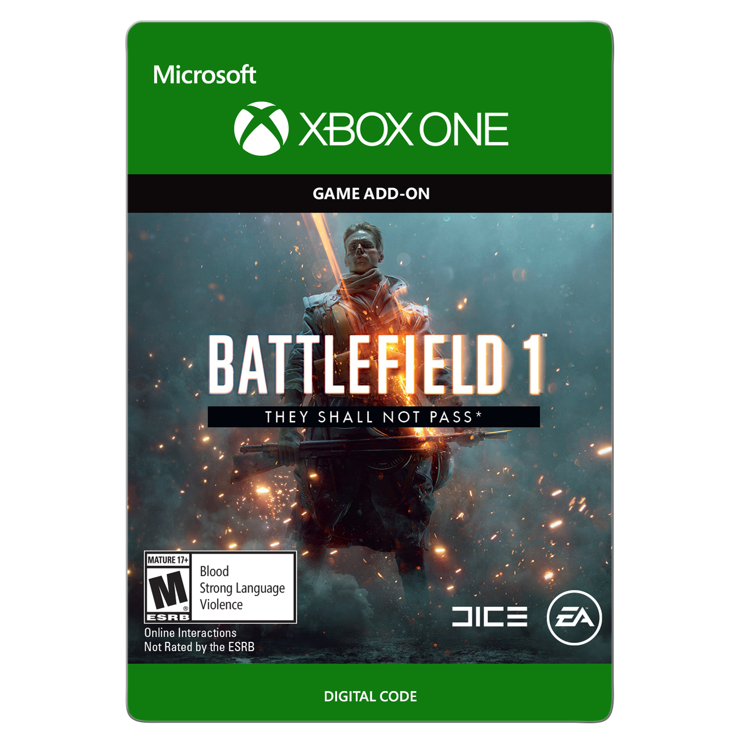 Xbox One Battlefield 1: They Shall Not Pass (Email Delivery)