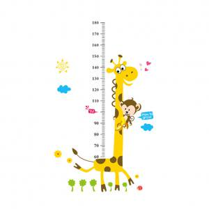 Fancyleo Children Height Growth Chart Measure Wall Sticker Kids Room Decor Animal Decal](Size Chart For Kids)