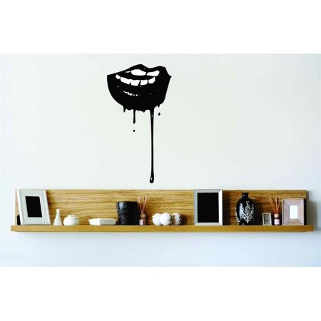 New Wall Ideas Vampire Lips Blood Dripping Halloween Party Kids Boy Girl Teen Dorm Room Children 30x10](Halloween Room Decor Ideas)