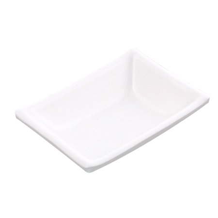 Unique Bargains Plastic Rectangle Shape Sushi Soy Sauce Dipping Dish Plate White for Home Essential