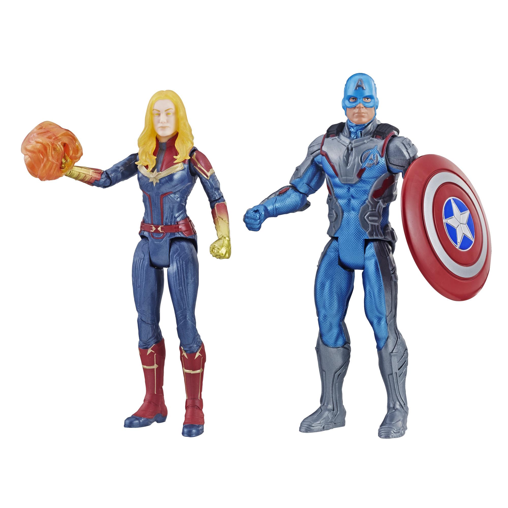 Marvel Avengers: Endgame Captain America and Captain Marvel 2-pack