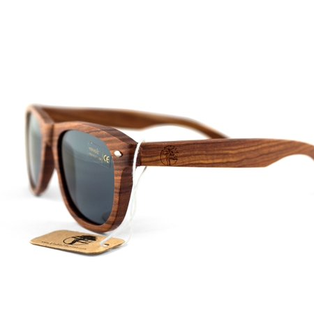 Real Solid Wooden Sandalwood Sunglasses Design Polarized Lenses with Gift Box by Viable (Sunglasses Gift Box)