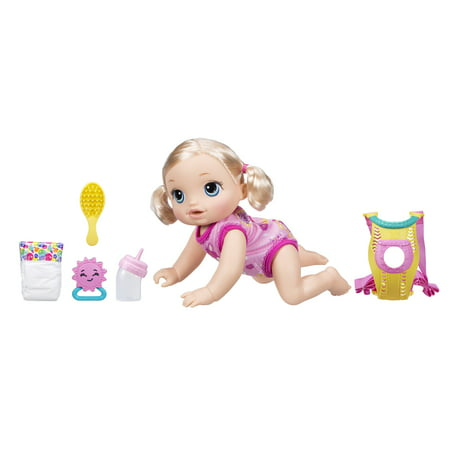 Baby Alive Baby Go Bye Bye: Blonde Hair Doll, Ages 3 and up Dot Mesh Baby Doll