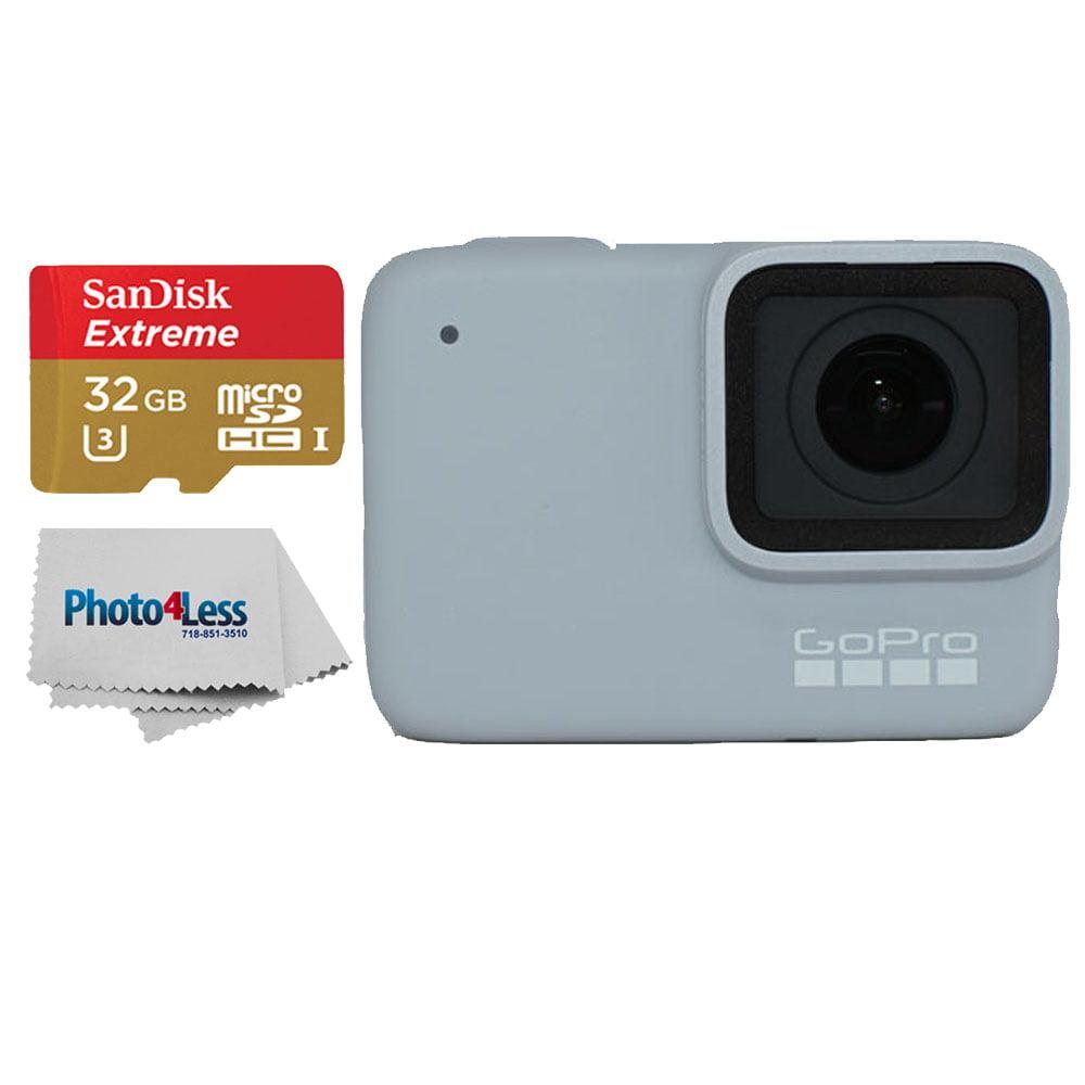 GoPro HERO7 White Waterproof Action Camera, 1440p HD Video+Sandisk 32GB Card