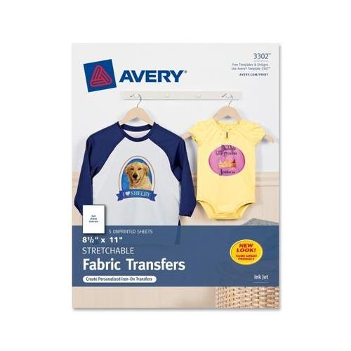 graphic about Avery Printable Vinyl referred to as Avery Darkish T-Blouse Transfers, Matte