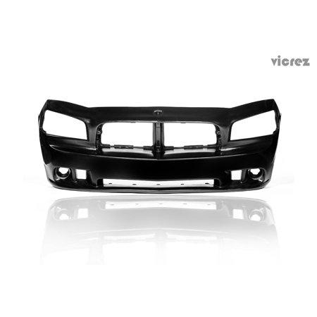 - Vicrez Dodge Charger 2006-2010 SRT Look Style Polyurethane Front Bumper - vz100061