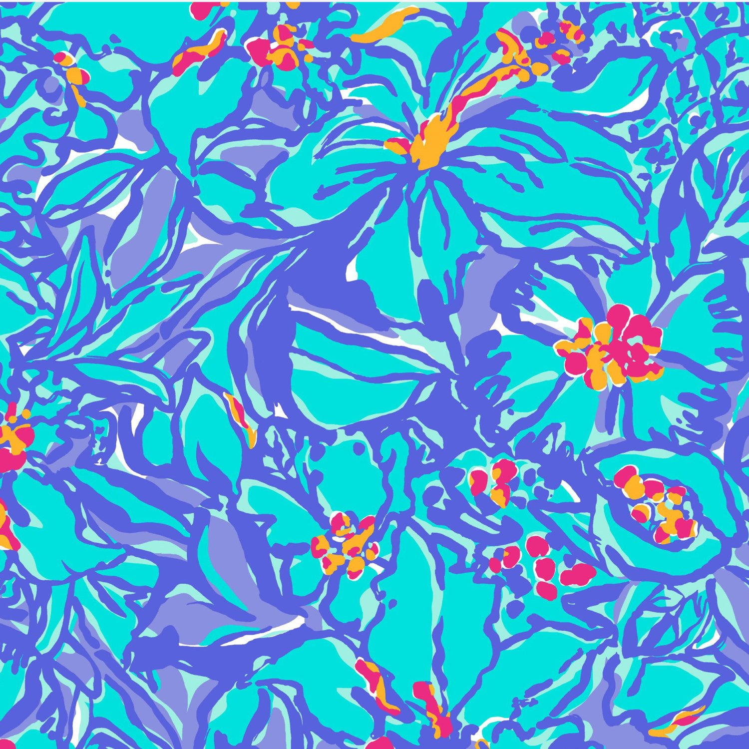 Mai Tai Purple Blue Floral Lilly Inspired Printed Patterned Craft Vinyl