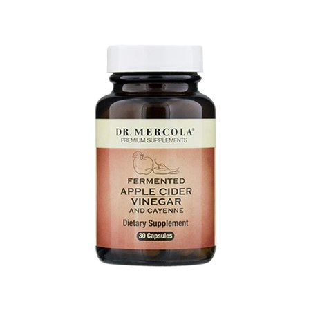 Dr. Mercola Organic Fermented Apple Cider Vinegar & Cayenne Pepper â?? 30 Capsules â?? Natural Thermogenic Weight Loss Dietary Supplement â?? Supports Healthy Detox, Cleanse, Digestion & Blood Sugar (Organic Apple Cider Vinegar High Blood Pressure)