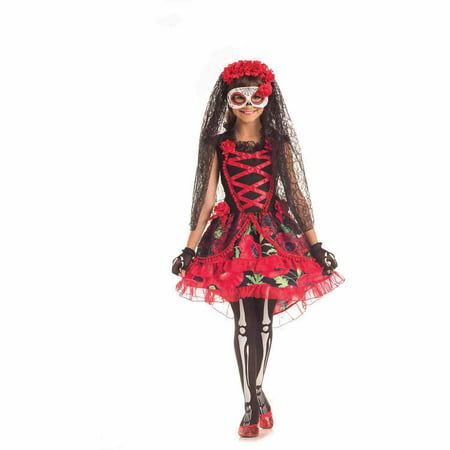 Day of the Dead Senorita Child Halloween - 29 Days Until Halloween