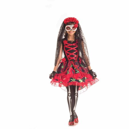 Day of the Dead Senorita Child Halloween Costume](Party City Day Of The Dead Costume)