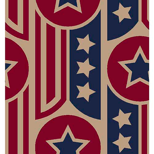 "Springs Creative Burlap Prints Patriotic Ribbon Large, Multi-Colored, 47/48"" Wide, Fabric By the Yard"