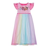 Disney Princess Girls 4-8 Short Flutter Sleeve Pajama Nightgown