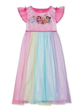 Disney Princess Girls 4-8 Short Flutter Sleeve Pajama Nightgown