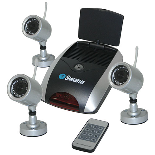 Swann Wireless Security System with 3 NightHawk Cameras and Receiver