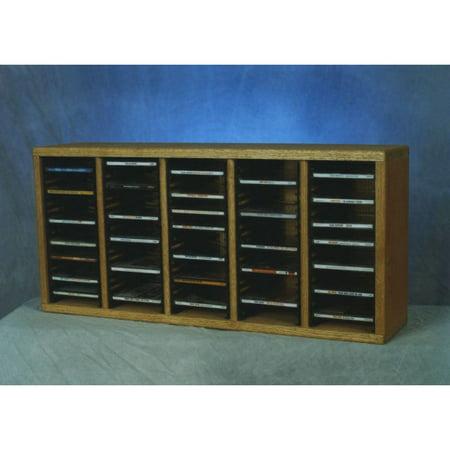 The Wood Shed Solid Oak Desktop / Shelf 100 CD Media Cabinet ()