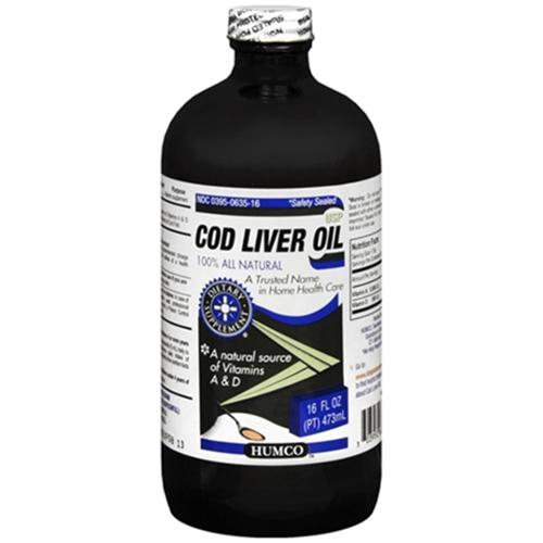 Humco Cod Liver Oil USP 16 oz (Pack of 3)