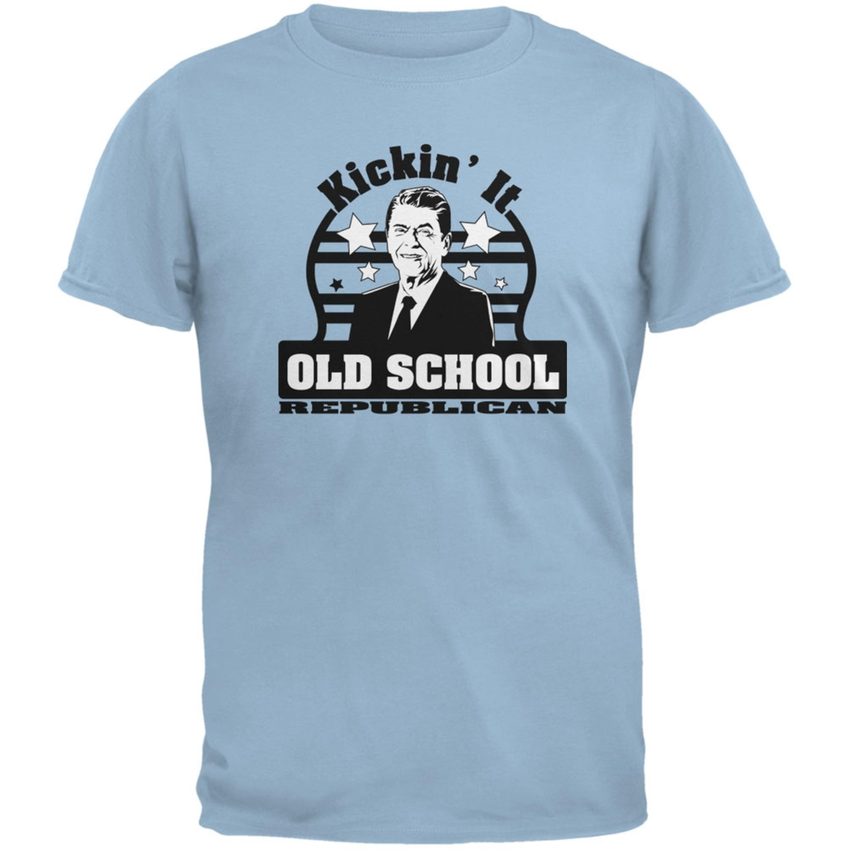 Ronald Reagan - Old School Republican Light Blue Adult T-Shirt