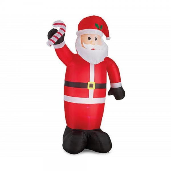 8 Feet Tall Winter Wonder Lane Inflatable Lighted Santa w...