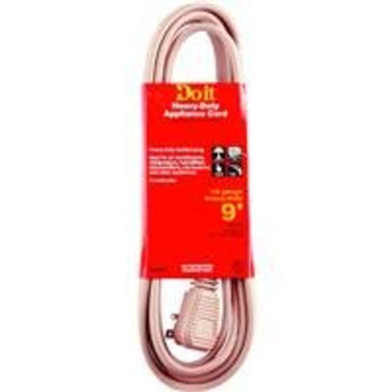 9' Air Conditioner Cord, 14/3 Beige A/C Cord Woods Extension Cords 550045