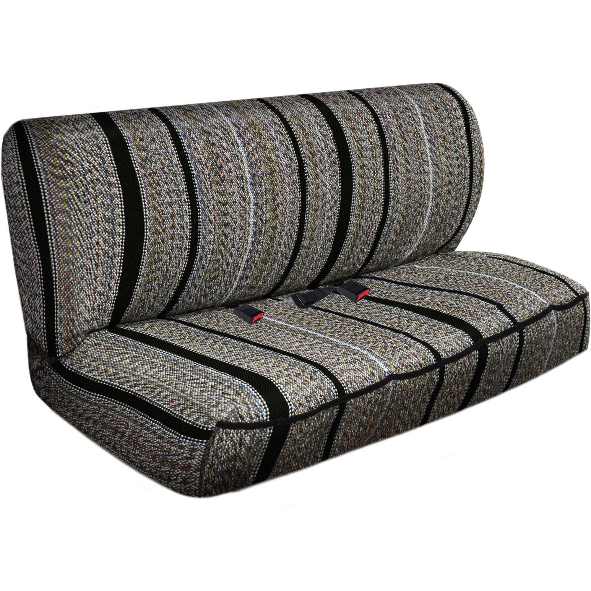 OxGord 2-Piece Full Size Heavy Duty Saddle Blanket Bench Seat Covers, Black