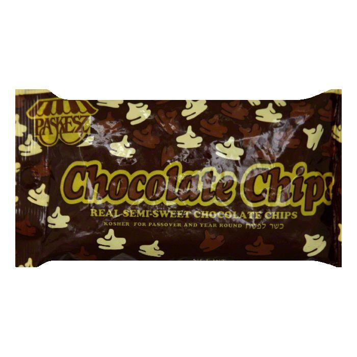 Paskesz Passover Semi Sweet Chocolate Chips, 10 OZ (Pack of 24)
