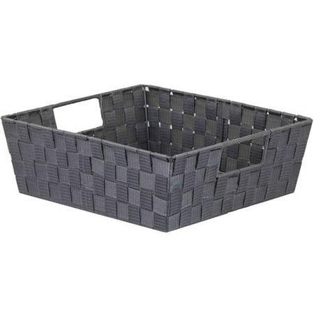 Med Opaque Box - Non-Woven Strap Bin, Gray, Med