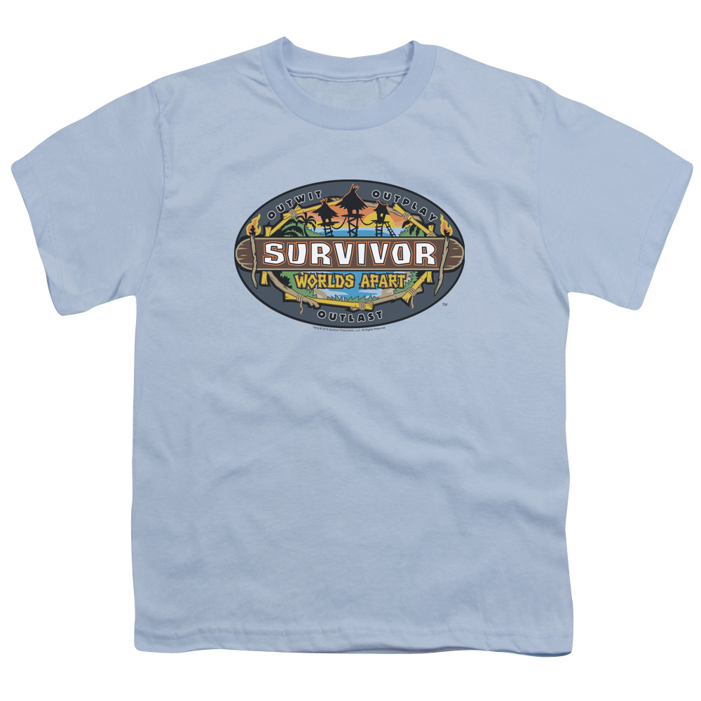 Survivor Worlds Apart Logo Big Boys Shirt