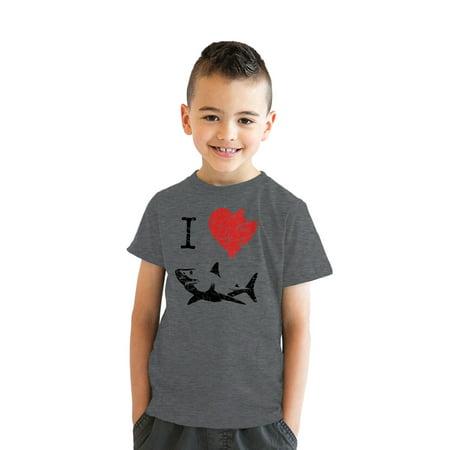 099c0f0a Crazy Dog Funny T-Shirts - Kids' I Love Sharks T Shirt Classic Youth ...
